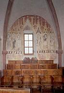 Urphar, Jakobuskirche/ Chorraum, Südwand