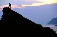 italy, liguria, cinque terre, man, trekking