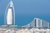 united emirates, dubai, burj al arab e jumeira beach hotels