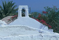 greece, dodecanese, patmos, chora, detail of a church