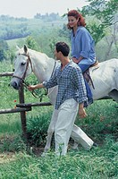 couple, horse