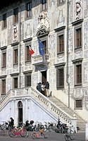 italy, tuscany, pisa, cavalieri square, carovana palace