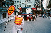 School crossing. Hong Kong, China
