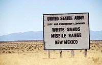 Trinity Site, location of first nuclear detonation in history. New Mexico, USA