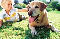 Boy with labrador (thumbnail)