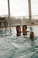 Two men in a swimming pool
