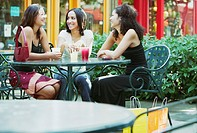 Three woman at cafe
