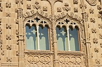 Palacio de Jabalquinto built 16th century, façade detail, Baeza. Jaén province, Andalusia. Spain