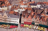 The Markt (Market Square), Brugge. Belgium