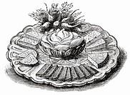 Cheese platter (illustration)