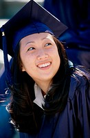 Young female graduate smiling (thumbnail)