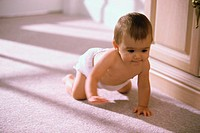 Baby boy crawling on the floor (thumbnail)