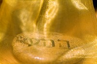 Close-up of a Jewish meditation stone