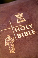 Close-up of the Holy Bible