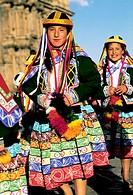 Virgen del Carmen procession. Cuzco. Peru.