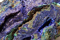 Azurite from the Tongshan Mine in Chizhou Anhui Provence, China