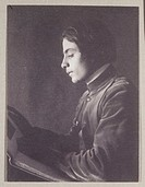 ´Kahlil Gibran with Book (side view)´, 1897.Photograph by Fred Holland Day (1864-1933) of Lebanese writer Kahlil Gibran (1883-1931).
