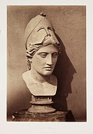 ´Head of Minerva´, c 1857.Photograph by Roger Fenton (1819-1869) of a bust of the Roman goddess.