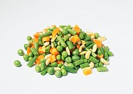 Pile of mixed vegetables