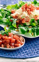Watermelon and tomatoe salad