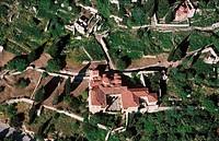 Metropolitan Church (12th-13th century), ruins of Mystras. Laconia, Peloponnese. Greece