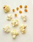 Popcorn: popped and kernals