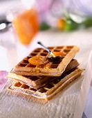 Waffle with preserved clementine