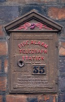 Historic fire alarm call box, Eton, Berkshire, UK
