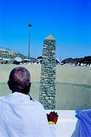 Pilgrim during Hajj in Mecca, Saudi Arabia