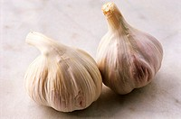 Two bulbs of garlic