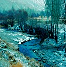 River landscape in winter, Iran (thumbnail)