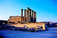 Roman Temple of Artemis, Jerash, Jordan (64 A.D.). About 500 meters above sea level, a convenient stopover point for all the caravans which would have...