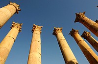Columns of the Temple of Artemis, Jerash, Jordan