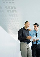 Two businessmen smiling (thumbnail)