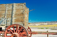 20 mule team wagon at Harmony Borax Works, Death Valley National Park, California