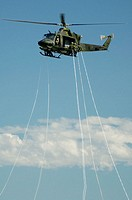 CH-148 Griffon helicopter (Canadian Forces) during airshow. Bagotville military base, Quebec, Canada