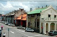 A row of shophouses, Penang, Malaysia