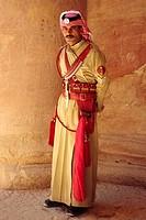 Guard of the Khasneh (´Treasury´) at Petra. Jordan