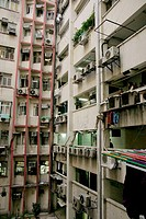 Urban Hong Kong flats. Settlement. Kowloon Peninsula. Hong Kong