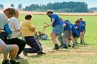 Tug of war competition. Southern Bohemia, Czech Republic