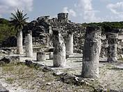 Ruinas del Rey (Ruins of the King), Mayan archeological site (postclassic period, 1250-1521) near Cancún. Yucatán, Mexico