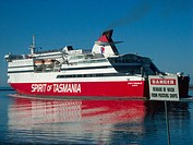 Spirit of Tasmania III leaving Devonport in Tasmania for Sydney in NSW