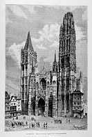 The Cathedral. Engraving from ´Le tour du monde´