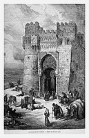 Puerta del Sol, Toledo, Spain. Engraving from 'Le Tour du Monde'