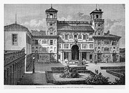 Villa Medici, Italy. Engraving from 'Le Tour du Monde'