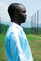 Side view of soccer player