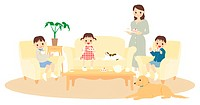 Illustration,family,lifestyle