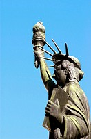 Small Statue of Liberty, Donated by Boy Scouts of America, at Georgia State Capital Grounds