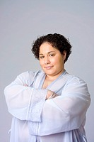 Portrait of an obese woman.