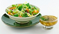 Mixed salad with sauce